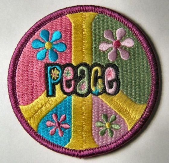 embroidered peace patch