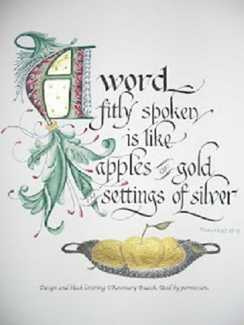 words as apples of gold