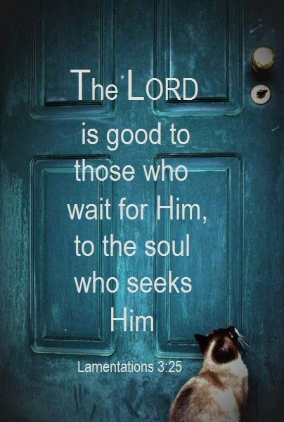 the Lord is good for those who Wait for HIm