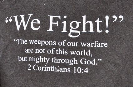we fight on our knees