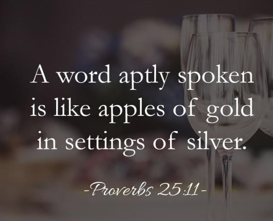 a word aptly spoken